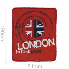 Applikation LONDON british style - 5 Stück