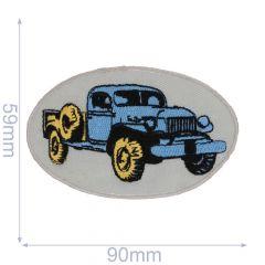 HKM Applikation Auto 90x59mm blau - 5Stk