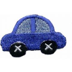 Applikation Auto blau - 5 Stück