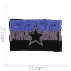 Applikation Flagge mit Stern - 5 Stück