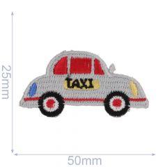 HKM Applikation Taxi 50x25mm weiß - 5Stk