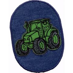 Applikation Traktor grün - 5 Stück