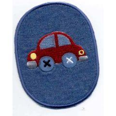 Applikation Auto rot - 5 Stück