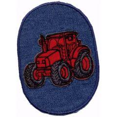 Applikation Traktor rot - 5 Stück