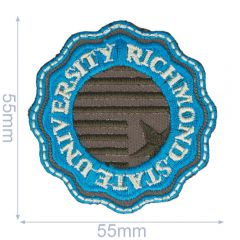 HKM Applikation Richmond State University 55x55mm - 5Stk