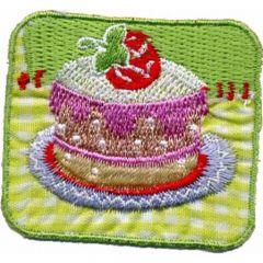 Applikation Torte - 5 Stück