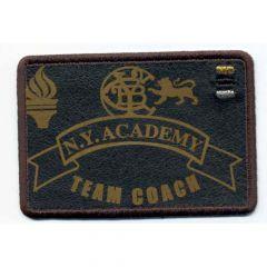 Applikation N.Y. ACADEMY TEAM COACH braun - 5 Stück