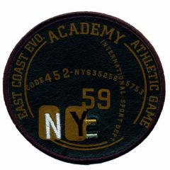 Applikation Academy NY 59 braun - 5 Stück