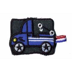 Applikation Abschleppwagen blau - 5 Stück