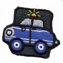 Applikation Auto Polizei blau - 5 Stück