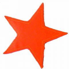 Applikation Stern neon orange/grün/gelb - 5 Stück