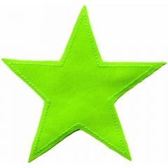 Applikation Stern limetten-grün - 5 Stück