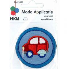 Applikation Rode Auto in blauem Kreis - 5 Stück