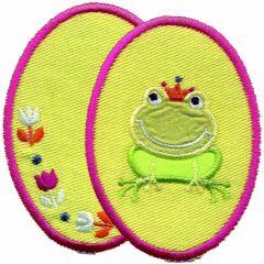 Knie-/Ellenbogenflicken Frosch 2 Stück - 5 Sets