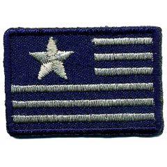Applikation Flagge klein Stern blau weiß - 5 Stück