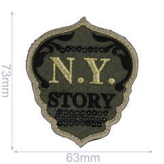 Applikation Wappen N.Y. Story - 5 Stück