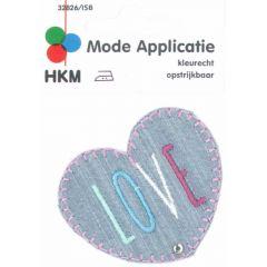 Applikation Love Herz Jeans - 5 Stück