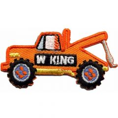 HKM Applikation Schlafwagen 55x29mm orange - 5Stk