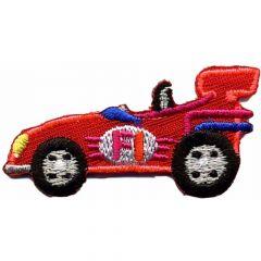 Applikation Rennwagen klein rot - 5 Stück