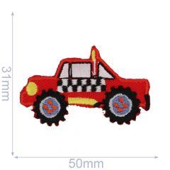 HKM Applikation Buggy 50x31mm rot - 5Stk