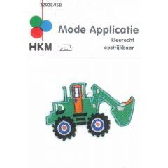 Applikation Bagger grün - 5 Stück