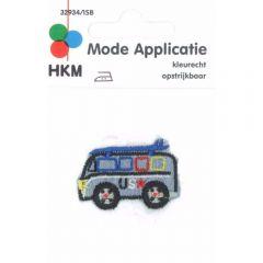 Applikation Mini-Bus US Jeans - 5 Stück