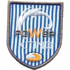 Applikation Power Kiting blau-weiß-gelb/blau - 5 Stück
