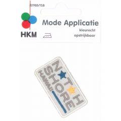 Applikation North Shore Hawaii türkies/dunkelblau - 5 Stück