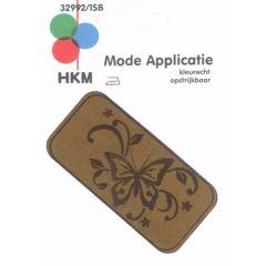 Applikation Schmetterling Leder gelasert - 5 Stück