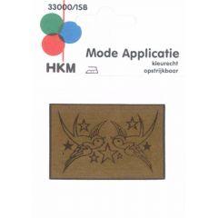 Applikation Vögel Leder gelasert - 5 Stück
