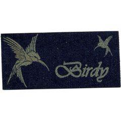 Applikation Birdy Vogel Jeans gelasert - 5 Stück