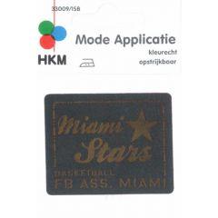 Applikation Miami Stars Leder gelasert - 5 Stück