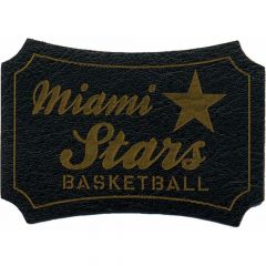 Applikation Miami Stars Basketbal gelasert Leder - 5 Stück