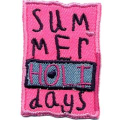 Applikation Summer Holidays rosa - 5 Stück