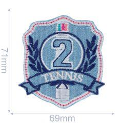 Applikation Tennis 2 blau/rosa - 5 Stück
