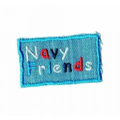 Applikation Jeans Navy friends - 5 Stück