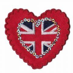 Applikation Herz London klein und groß - 5 Stück