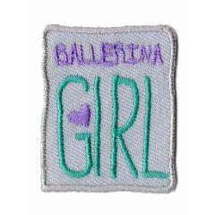 Applikation Ballerina girl beige - 5 Stück
