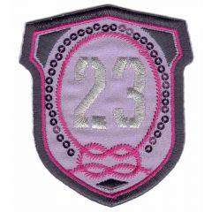 Applikation Wappen 23 - 5 Stück