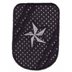 Applikation Emblem mit Stern - 5 Stück