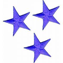 Applikationen Stern Set lila 3 Stück - 5 Sets