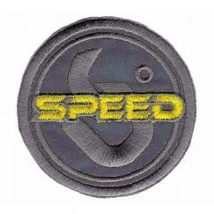 Applikation reflektierend Speed gelb/rot - 5 Stück