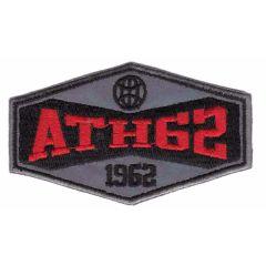 Applikation reflektierend Ath 62 rot/blau mit grau - 5 Stück