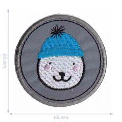 Applikation reflektierend Bär mit Mütze - 5 Stück