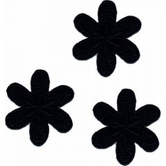 Applikationen Blume groß Set 3 Stück - 5 Sets
