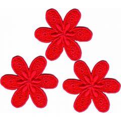 Applikationen Blume klein Set 3 Stück - 5 Sets