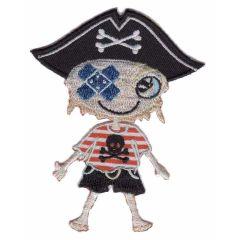 Applikation Piratenjunge mit Pflaster - 5 Stück