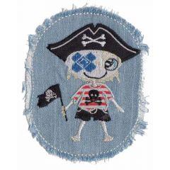 Applikation Jeans mit Piratenjungen oder Mädchen - 5 Stück