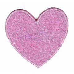 Applikation Herz rosa - 5 Stück