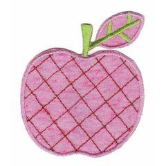 Applikation Appfel roza/grün - 5 Stück